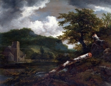 212/ruisdael, jacob isaackszon van - a landscape with a ruined building