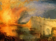 212/turner, joseph mallord william - the burning of the hause of lords and commons