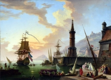 212/vernet, claude-joseph - a seaport