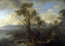 212/wouwerman, philips - a stag hunt