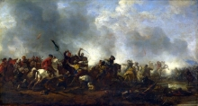 212/wouwerman, philips - cavalry attacking infantry