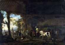 212/wouwerman, philips - the interior of a stable