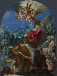 londongallery/adam elsheimer - the baptism of christ