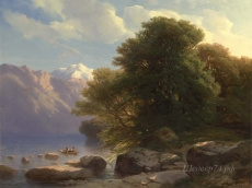 londongallery/alexandre calame - the lake of thun