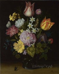 londongallery/ambrosius bosschaert the elder - flowers in a glass vase