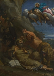 londongallery/annibale carracci - christ appearing to saint anthony abbot